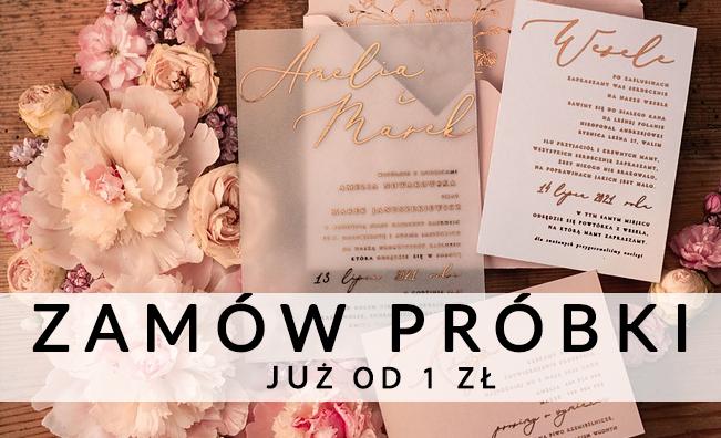 Kup Próbki Zaproszeń Ślubnych